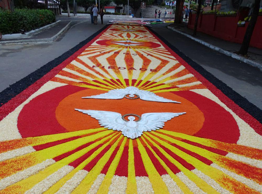 Tapete colorido na cidade de Castelo, Espírito Santo