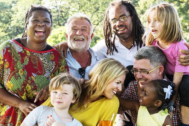 Imagem representando a diversidade e os diversos tipos de famílias