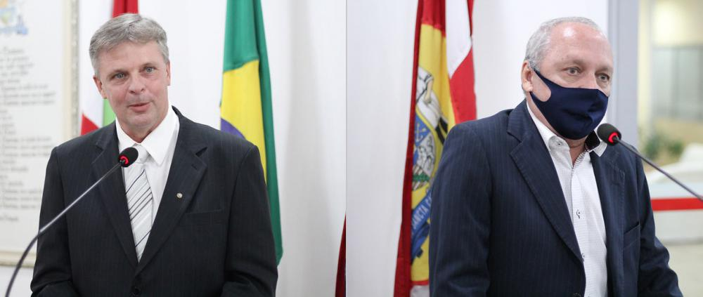 Charles Schneider e Sílvio José Martins Filho (Fotos: Lucas Prudêncio I Imprensa CMB)