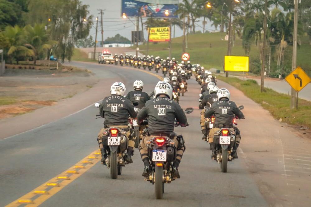 10º BPM promove Treinamento Específico de Policiamento com Motocicletas, em Blumenau