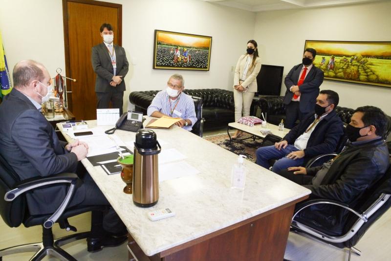 Comitiva da Assembleia Legislativa do Rio Grande do Norte foi recebida pela presidência nesta terça-feira para assinatura do termo de cooperação FOTO: Solon Soares/Agência AL