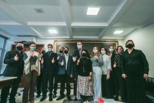 Deputados, vereadores e dirigentes de escolas legislativas municipais (Foto: Bruno Collaço / AGÊNCIA AL)