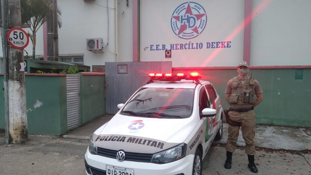 PM realiza Operação Escola Mais Segura em Blumenau