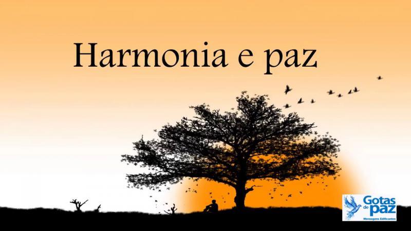 Harmonia e paz